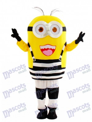 Happy Minion in Prison Despicable Me Mascot Costume Cartoon