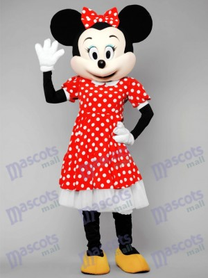 Minnie Mouse In Polka Dot Dress Mascot Costume Anime