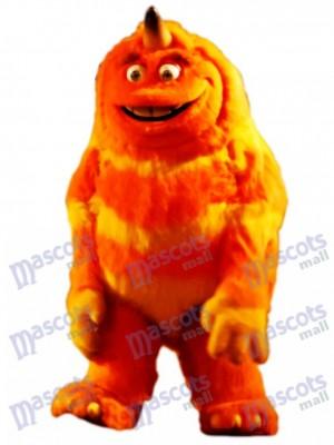 Orange Monster Mascot Adult Costume Cartoon Anime