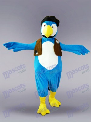 Blue Parrot Bird Mascot Costume Animal