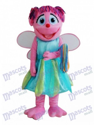 Pink Fairy Mascot Costume Cartoon Anime
