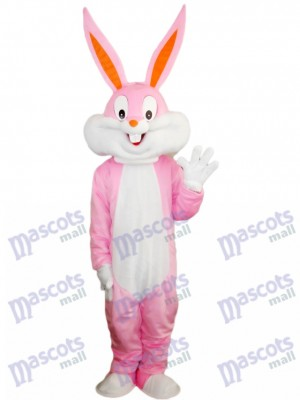 Pink Easter Bunny Bug Rabbit Mascot Costume Cartoon
