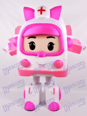 Pink Robotic Car Mascot Costume Cartoon