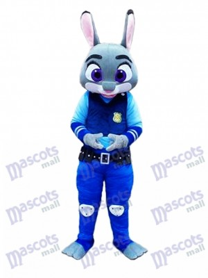 Zootopia Judy Hopps Police Rabbit Mascot Costume Cartoon