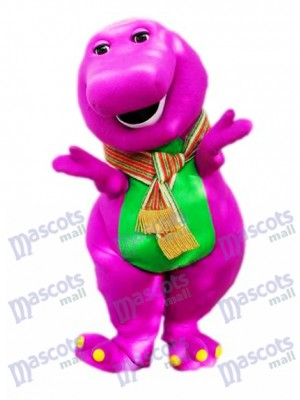 Purple Dinosaur Mascot Costume Animal