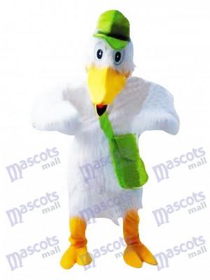 Stork White Bird Mascot Costume Animal