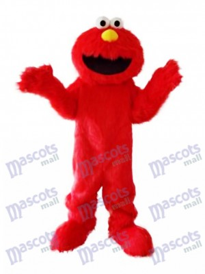 Super Sesame Street Cute Red Elmo Monster Mascot Costume
