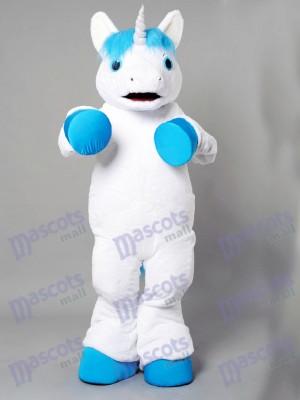 New Unicorn With Blue Mane Mascot Costume