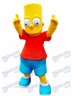 Bart Simpson Son Anime Yellow Boy Mascot Costume