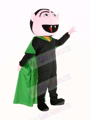 Funny Sesame Street the Count Von Count Vampire Mascot Costume