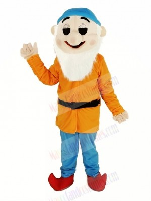 Dwarfs with Orange Coat Mascot Costume