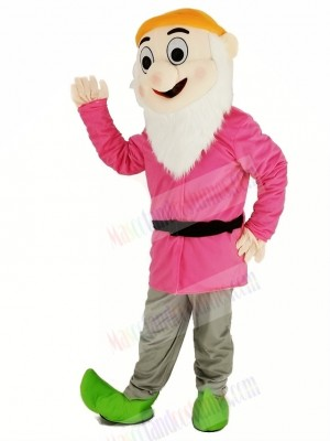 Dwarfs with Pink Coat Mascot Costume
