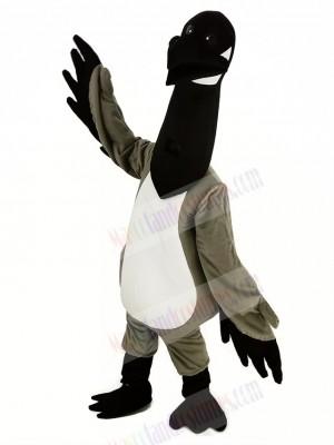 Black Head Canada Goose Mascot Costume Animal
