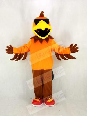 Cool Rock Chicken Rooster Mascot Costume Cartoon