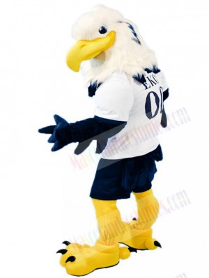 Fierce White Head Blue Eagle Mascot Costume Animal