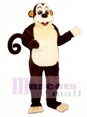 Zoo Monkey with Wired Tail Mascot Costume Animal