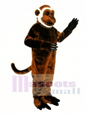 Cute Bearded Monkey Mascot Costume Animal