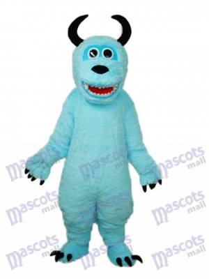 Coral Velvet Monsters Inc Blue Sulley Mascot Adult Costume Cartoon Anime