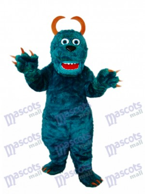 Dark Green Sulley Monsters Inc Mascot Adult Costume Cartoon Anime