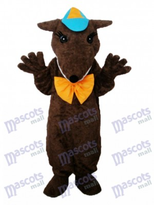 Brown Hairy Beast Mascot Adult Costume Cartoon Anime