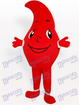 Red Waterdrop Party Adult Mascot Costume