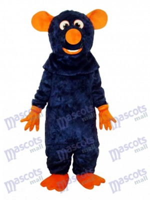Big Tooth Black Mouse Adult Mascot Costume Animal