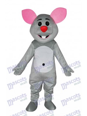 Grey Mouse Mascot Costume Animal
