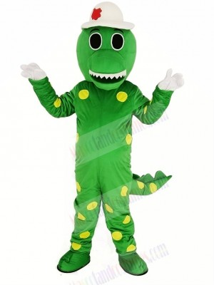 Green Dorothy Dinosaur with Hat Mascot Costume Animal