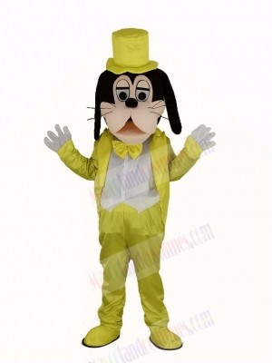 Goofy Dog in Golden Coat Mascot Costume