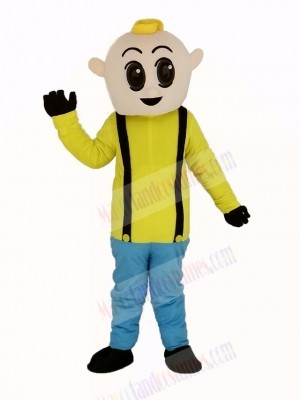 Boy with Yellow Shirt Mascot Costume