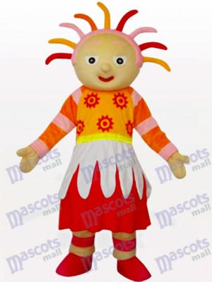 Bright Sunshine Girl Cartoon Mascot Costume