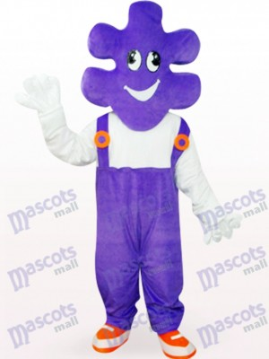 Purple Mr. Makeup Cartoon Adult Mascot Costume