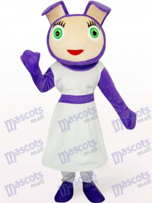 Cute Purple Mascot Costume