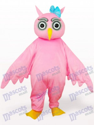 Pink Owl Animal Adult Mascot Costume