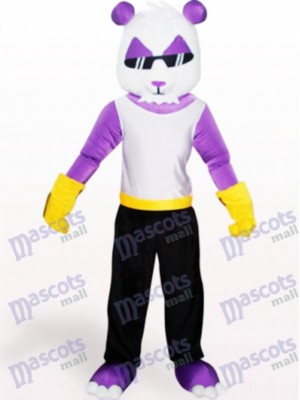 Purple Panda Animal Adult Mascot Costume