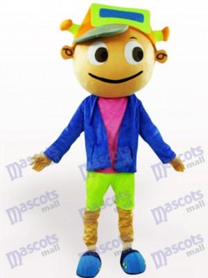 Cap Boy Adult Cartoon Mascot Costume