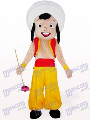 Yellow Arab Boy Cartoon Mascot Costume