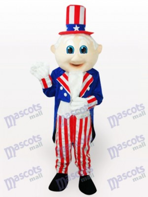 Uncle Sam Cartoon Adult Mascot Costume