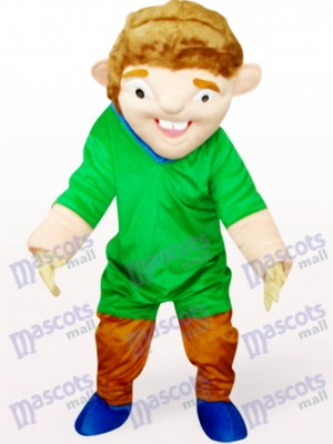 Green Strange Man In Red Clothes Mascot Costume