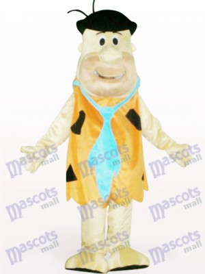 Soft Brown Savage Cartoon Adult Mascot Costume