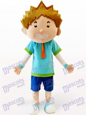 Smart Boy Cartoon Adult Mascot Costume