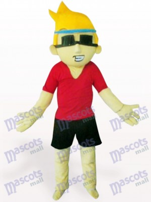 Sunglasses Boy Cartoon Adult Mascot Costume