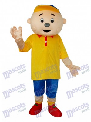Yellow Boy Mascot Adult Costume Cartoon People