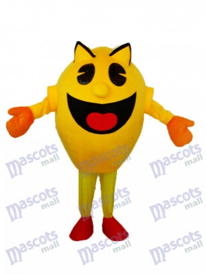 Yellow Superman Mascot Adult Costume Cartoon People