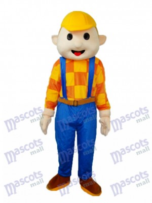 Yellow Hat Child Mascot Adult Costume Cartoon People