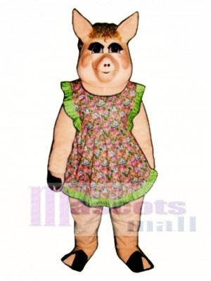 Cute Peaches Pig Mascot Costume Animal