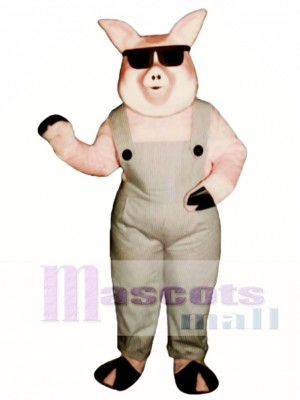 Far-Out Farmer Pig Mascot Costume Animal