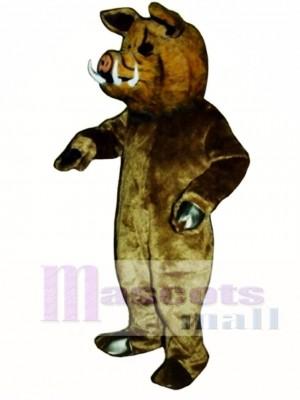 Wild Boar Pig Hog Mascot Costume Animal