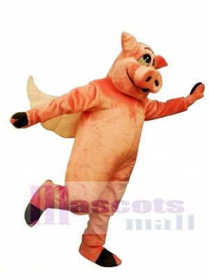 Flying Hog Pig Piglet Mascot Costume Animal