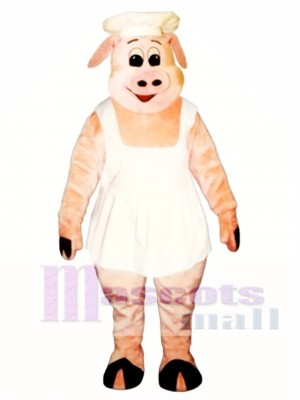 Chef Oink Pig Hog with Apron & Hat Mascot Costume Animal